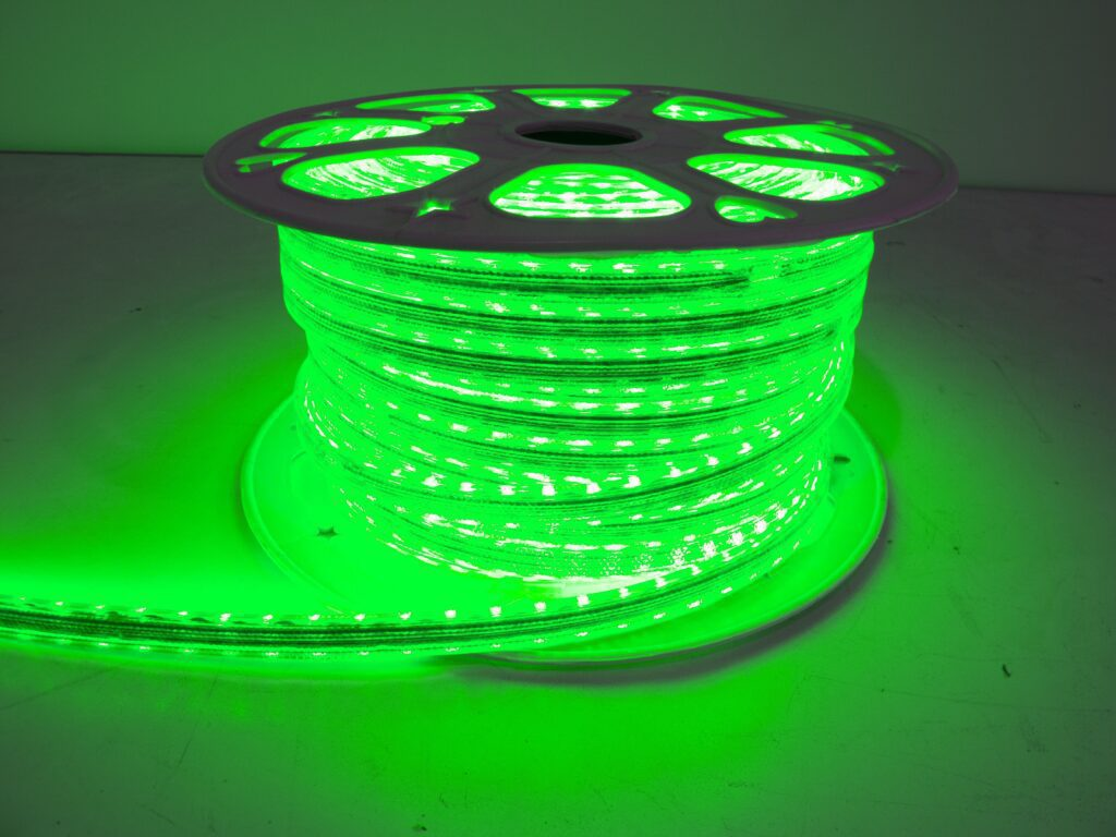 110v Weatherproof Pier Light Strip 164ft Green 5050