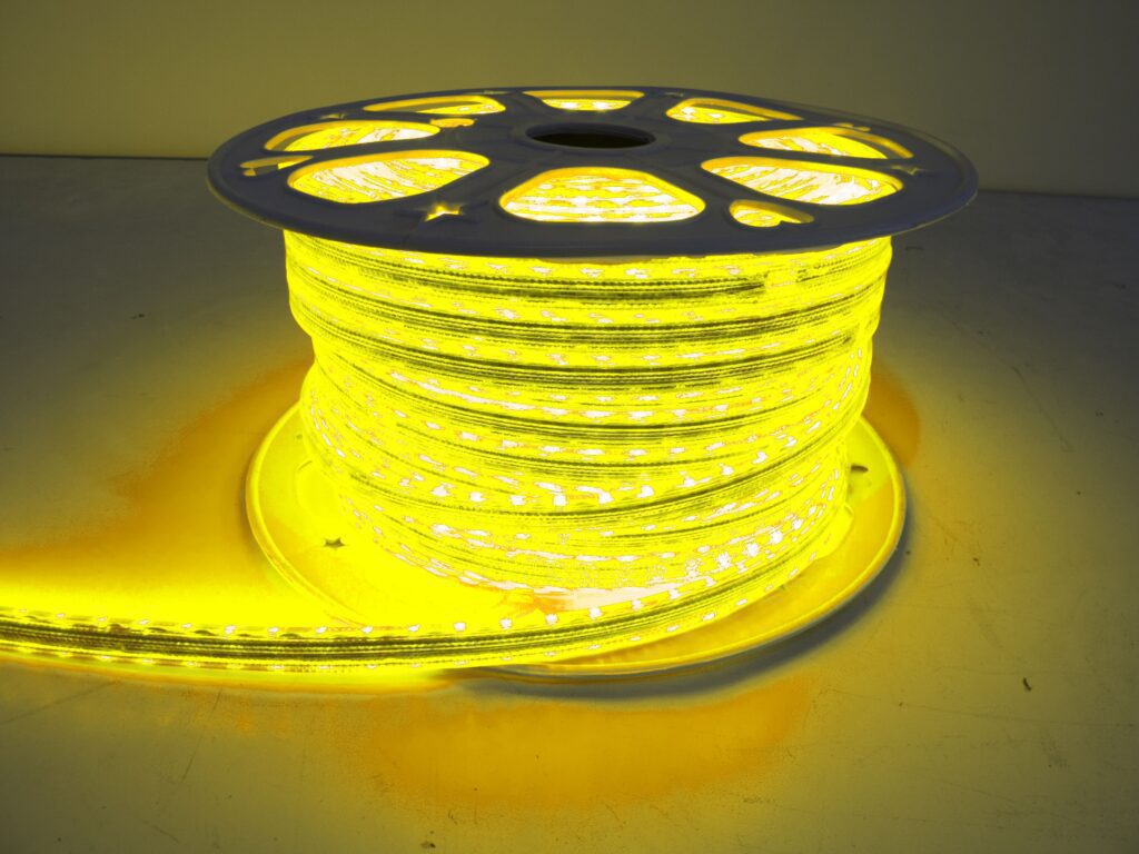 110v Weatherproof Pier Light Strip 164ft Yellow 5050