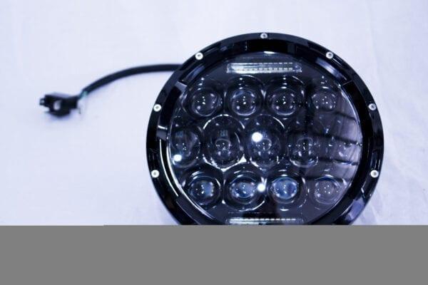 7in LED Projector Conversion Kit 13x5W - Plug-&-Play H4 H/L (Black)