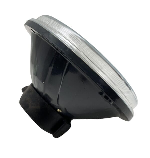7in Round Diamond Cut Lens with Domed Center Projector Aim holds H4 Bulb