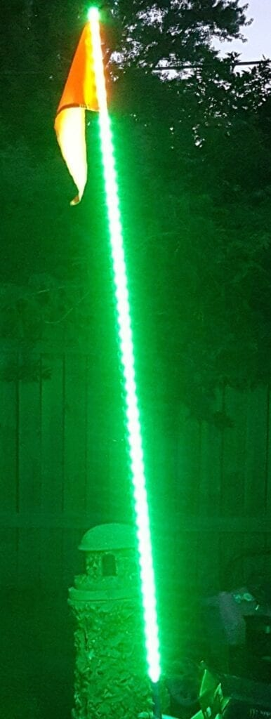 5ft LED ATV/Jeep Whip - Flag Pole - 5050 SMD LED (Green)