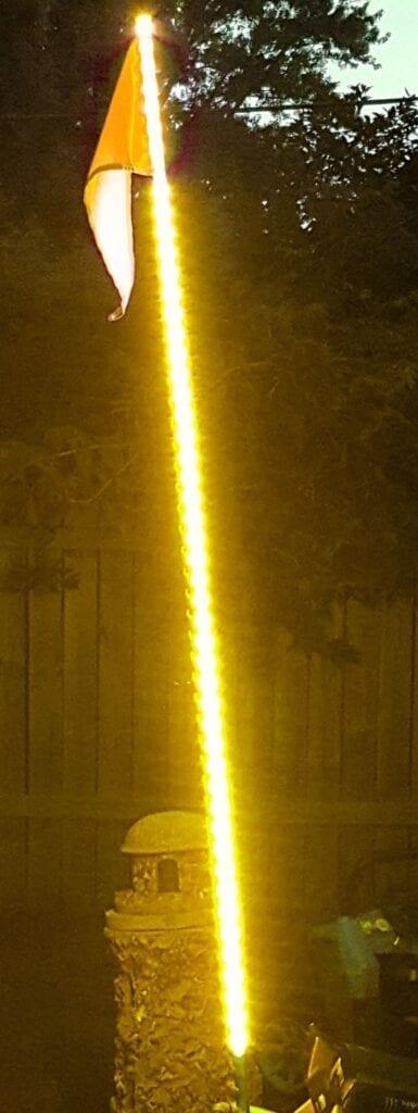 5ft LED ATV/Jeep Whip - Flag Pole - 5050 SMD LED (Orange)