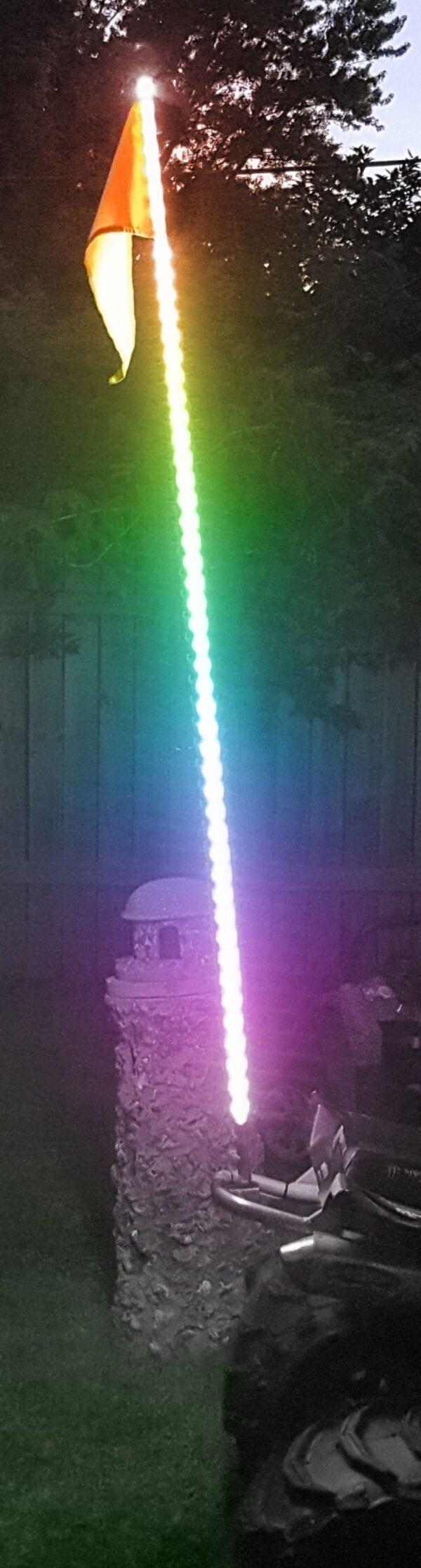 5ft 5050 LED ATV/Jeep Flag Pole Whip (RGB Multi-Color)