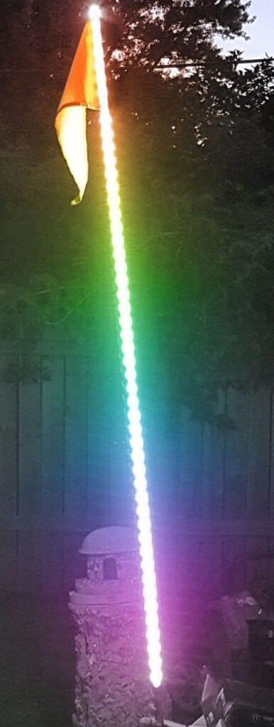 6ft 5050 LED ATV/Jeep Flag Pole Whip (RGB Multi-Color)