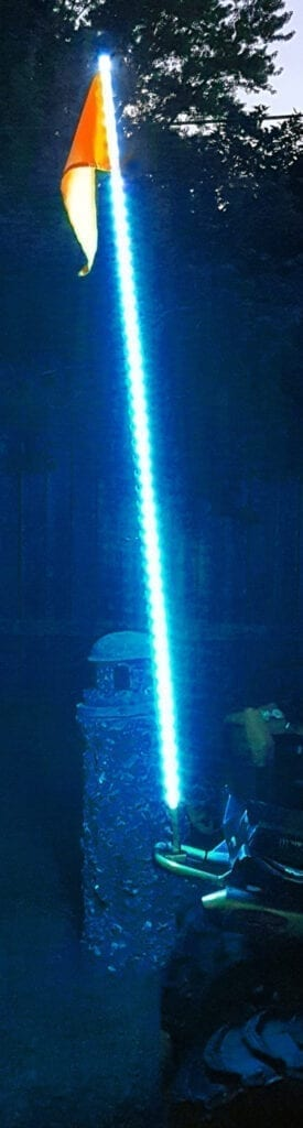 5ft LED ATV/Jeep Whip - Flag Pole - 5050 SMD LED (Blue)